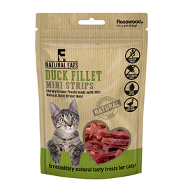 Rosewood Natural Eats Duck Fillet Mini Strips Cat Treats, 50g