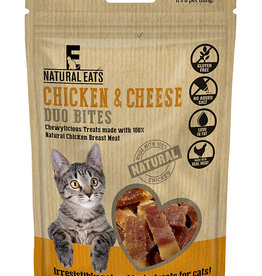 Rosewood Natural Eats Chicken & Cheese Duo Bites Cat Treats, 50g