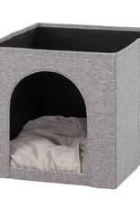 Trixie Ella Cat Cave Bed, Grey, 33 × 33 × 37 cm IKEA Shelf compatible