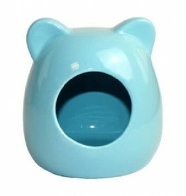 Happy Pet Small Animal Ceramic House Blue