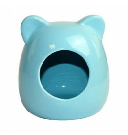 Happy Pet Small Animal Ceramic House Blue