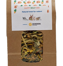 Borders Complete Small Animal 'Happy Belly Mix'- organic red papaya, green papaya, organic pineapple, parsley, marigold 70g