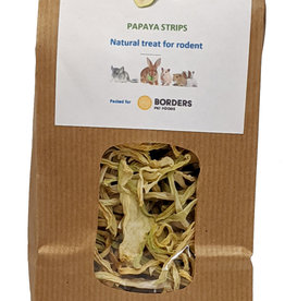 Borders Small Animal Dried Green Papaya Strips 70g