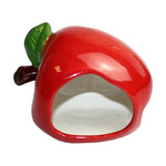 Happy Pet Small Animal Ceramic Hideout Apple Shaped