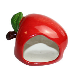 Happy Pet Small Animal Ceramic Hideout Apple Shaped