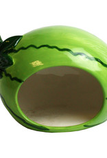 Happy Pet Small Animal Ceramic Hideout Watermelon Shaped
