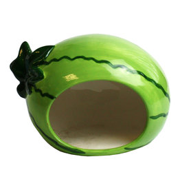 Happy Pet Small Animal Ceramic Hideout Watermelon Shaped