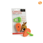 sharples Small N Furry Small Animal Salt Carrot Lick Treat with Holder