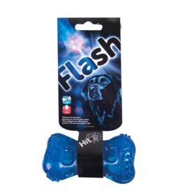 sharples Flash Bone LED TPR Rubber Dog Toy, 10.5cm