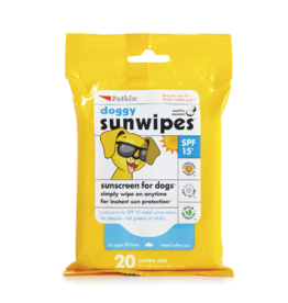 sharples Petkin Doggy Sunwipes, Sunscreen for Dogs, 20 wipes