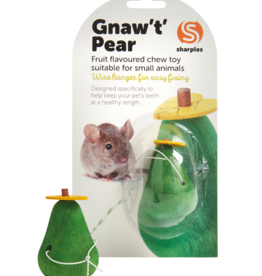 sharples Gnaw 't' Pear Fruit Flavoured Small Animal Chew Toy