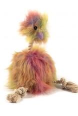 Ancol Fluffy Emu Dog Squeaky Toy, 34cm