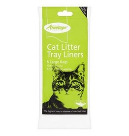 Armitage Large Cat Litter Tray Liners Universal Fitting 52cm x 40cm, 6 pack