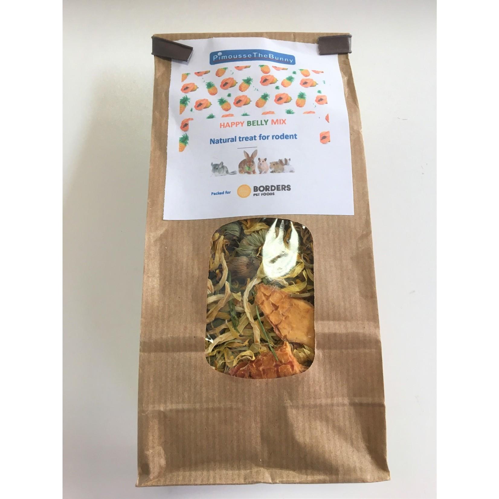 Borders Complete Small Animal 'Happy Belly Mix'- organic red papaya, green papaya, organic pineapple, parsley, marigold 70g