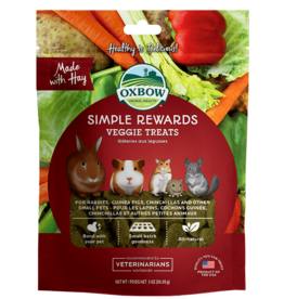 Oxbow Simple Rewards Baked Treats for Small Animals, Veggie, 85.5g