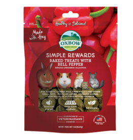 Oxbow Simple Rewards Baked Treats for Small Animals, Bell Pepper, 85.5g