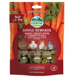 Oxbow Simple Rewards Baked Treats for Small Animals, Carrot & Dill, 85.5g