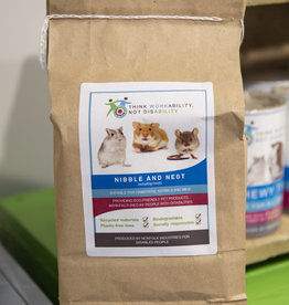 Norfolk Industries Nibble & Nest Cotton Bedding for Small Animals, in a paper bag