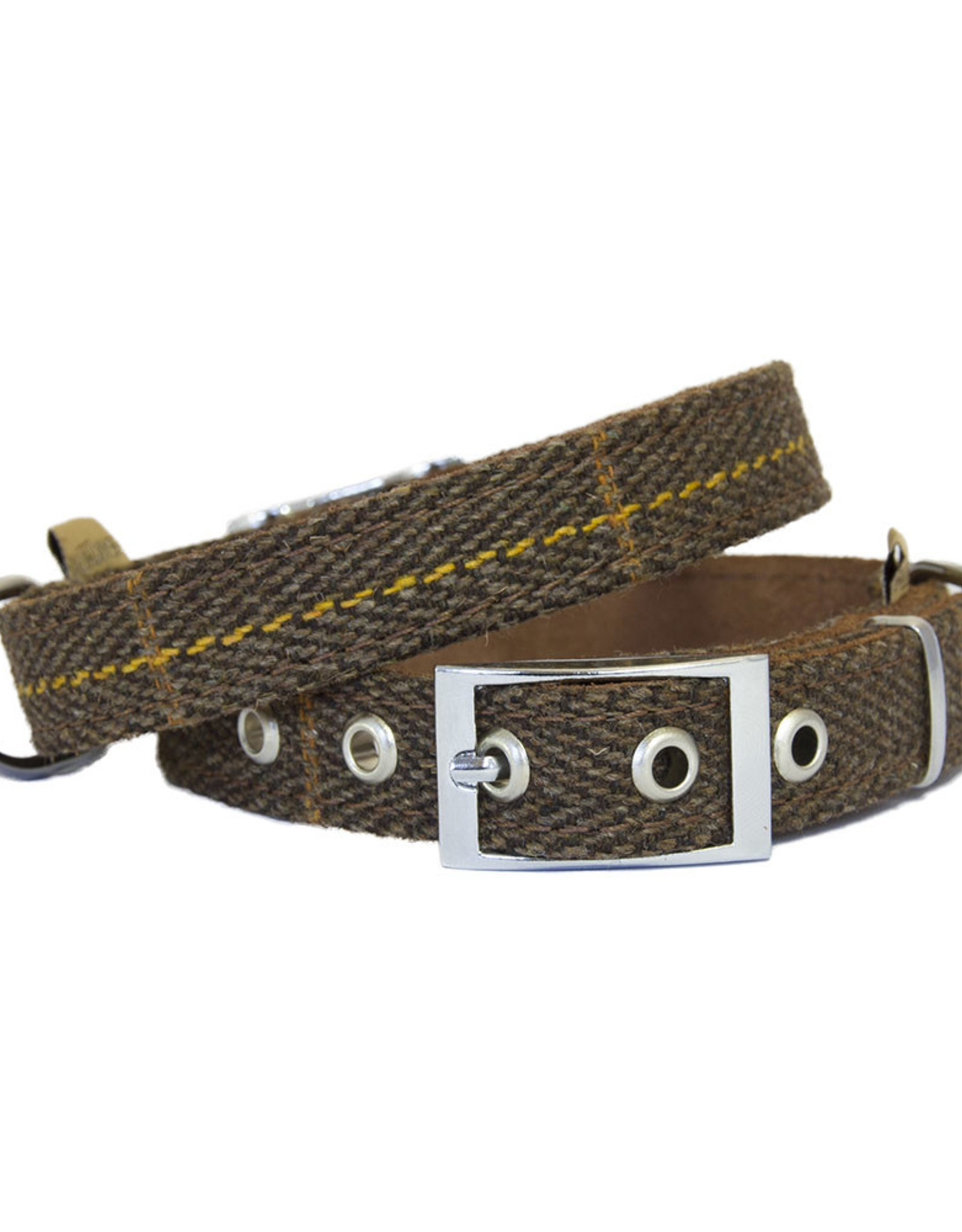 Earthbound Tweed Dog Collar in Brown