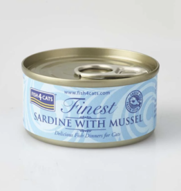 Fish4Cats Finest Sardine with Mussel Wet Cat Food, 70g