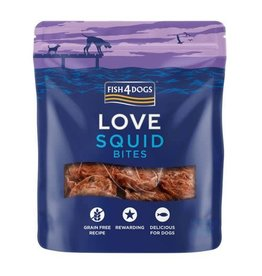 Fish4Dogs Love Squid Bites Treats for Dogs, 80g