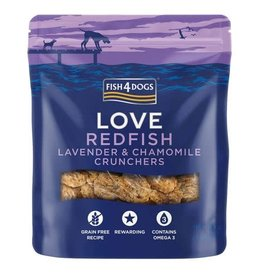 Fish4Dogs Love Redfish, Lavender & Chamomile Crunchers Treats for Dogs, 75g