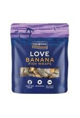 Fish4Dogs Love Banana Fish Wraps Treats for Dogs, 100g