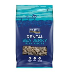 Fish4Dogs Dental Sea Jerky Fish Knots Dog Chews, 500g