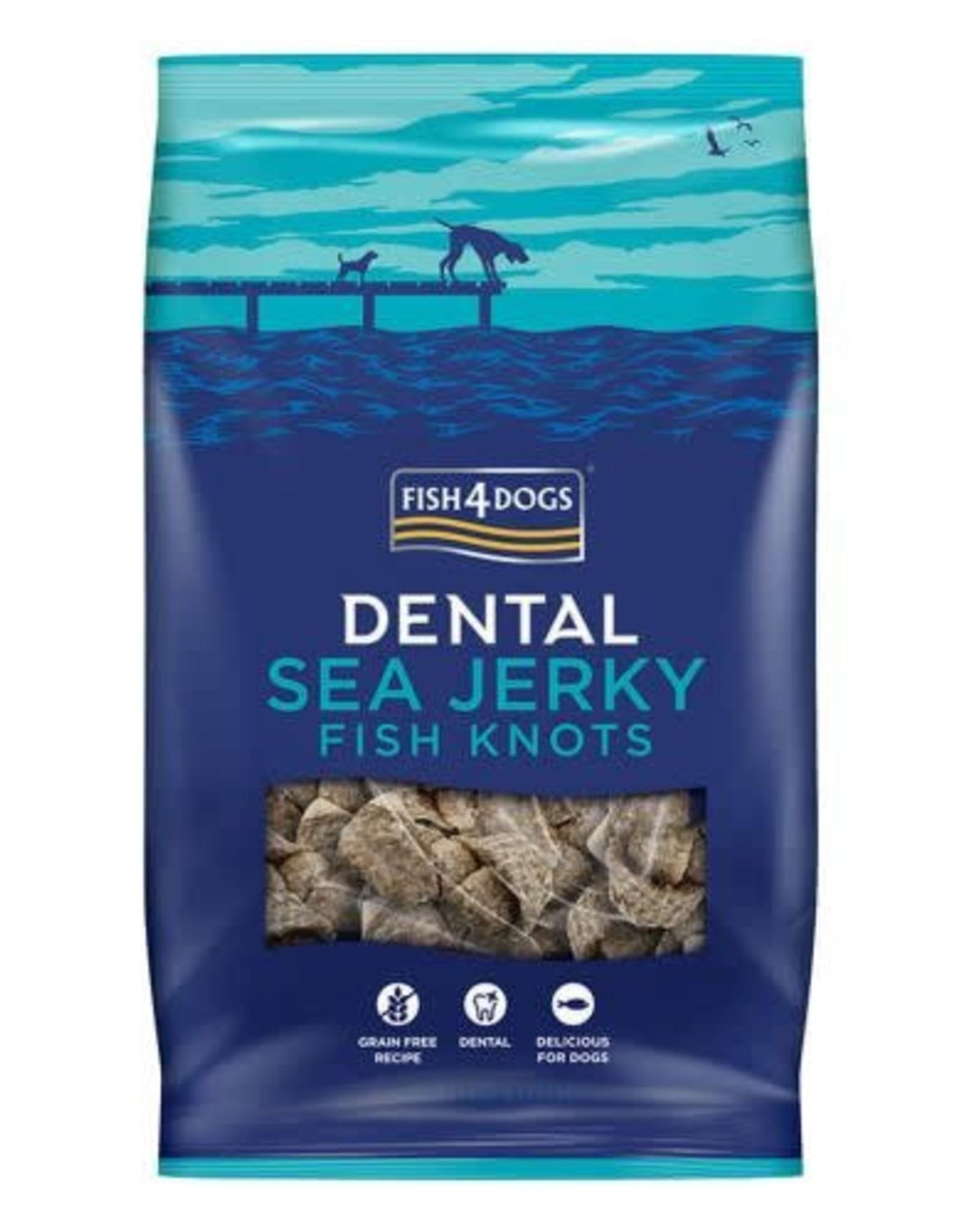 Fish4Dogs Dental Sea Jerky Fish Knots Dog Chews, 100g