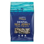 Fish4Dogs Dental Sea Jerky Fish Twists Dog Chews, 100g