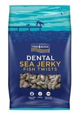 Fish4Dogs Dental Sea Jerky Fish Twists Dog Chews, 100g