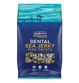 Fish4Dogs Dental Sea Jerky Fish Twists Dog Chews, 500g