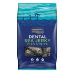 Fish4Dogs Dental Sea Jerky Fish Strips Dog Chews, 100g