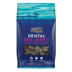 Fish4Dogs Dental Sea Jerky Fish Squares Dog Treats, 115g