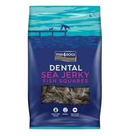 Fish4Dogs Dental Sea Jerky Fish Squares Dog Treats, 115g