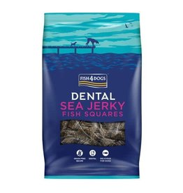 Fish4Dogs Dental Sea Jerky Fish Squares Dog Treats, 500g