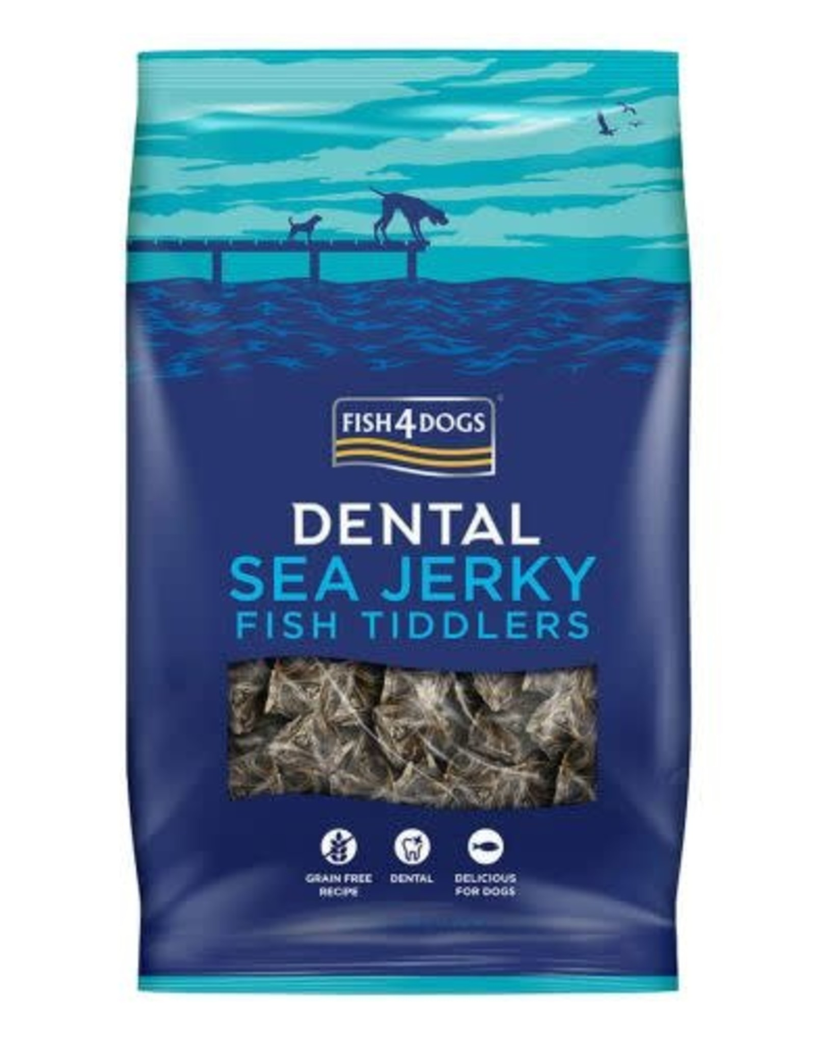 Fish4Dogs Dental Sea Jerky Fish Tiddlers Dog Treats, 115g