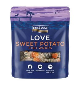 Fish4Dogs Love Sweet Potato Fish Wraps Dog Treats, 100g