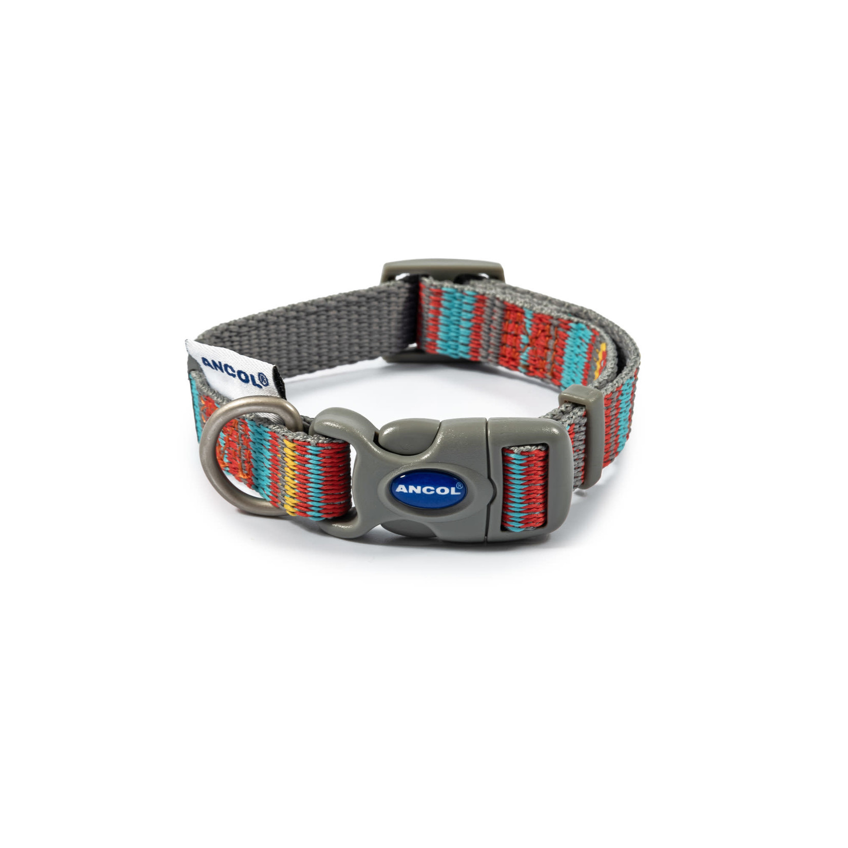 Ancol Adjustable Dog Collar Made From Recycled Materials, Orange Candy Stripe