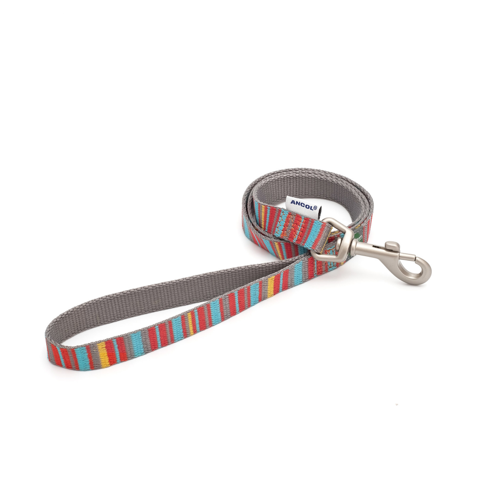 Ancol Dog Lead Made From Recycled Materials, Orange Candy Stripe, 100 x 1.9cm