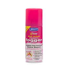 Johnsons Veterinary 4Fleas Dual Action Room Fogger with I.G.R, 100ml Aerosol Treats 35m²