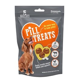 Rosewood Daily Eats Pill Treats for Dogs, Beef & Chicken  80g