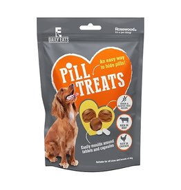 Rosewood Daily Eats Pill Treats for Dogs, Beef & Chicken, 80g