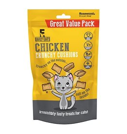 Rosewood Daily Eats Crunchy Cushions Chicken Cat Treats Value Pack, 200g