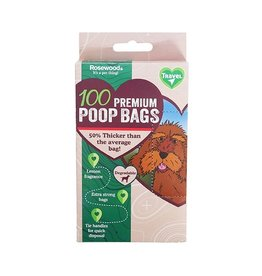 Rosewood Degradable Doggy Bags Lemon Scented, 100 pack