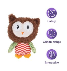 Rosewood Little Nippers Boggle Owl Toy for Cats & Kittens