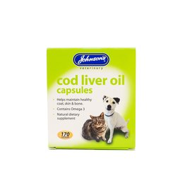 Johnsons Veterinary Cod Liver Oil Capsules for Healthy Skin, Coat & Bones