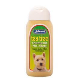 Johnsons Veterinary Tea Tree Dog Shampoo to calm irritation, 200ml