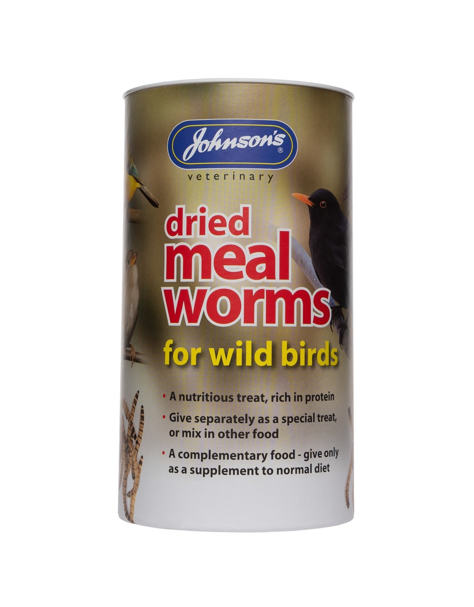 Johnsons Veterinary Dried Mealworms for Wild Birds, 100g