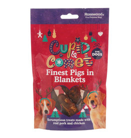 Rosewood Christmas Finest Pigs in Blanket Dog Treats, 100g